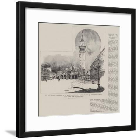 The Fall of the Campanile of St Mark's Cathedral-Joseph Holland Tringham-Framed Art Print
