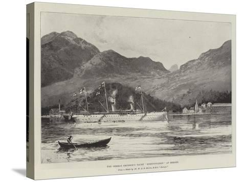 The German Emperor's Yacht Hohenzollern at Bergen-Joseph Holland Tringham-Stretched Canvas Print