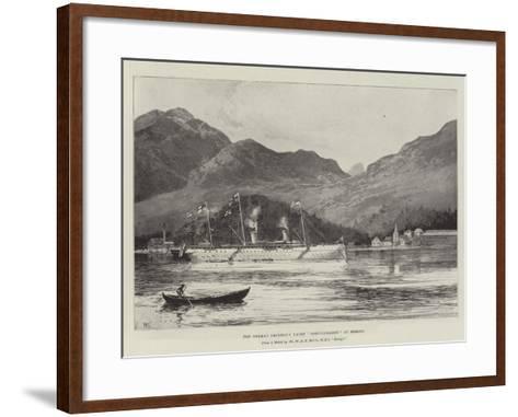 The German Emperor's Yacht Hohenzollern at Bergen-Joseph Holland Tringham-Framed Art Print
