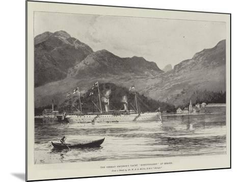 The German Emperor's Yacht Hohenzollern at Bergen-Joseph Holland Tringham-Mounted Giclee Print
