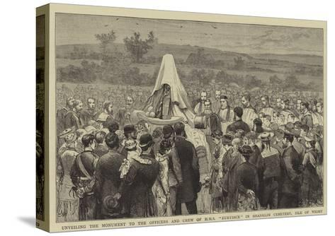 Unveiling the Monument to the Officers and Crew of HMS Eurydice in Shanklin Cemetery, Isle of Wight-Joseph Nash-Stretched Canvas Print