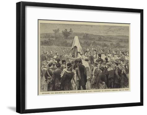 Unveiling the Monument to the Officers and Crew of HMS Eurydice in Shanklin Cemetery, Isle of Wight-Joseph Nash-Framed Art Print
