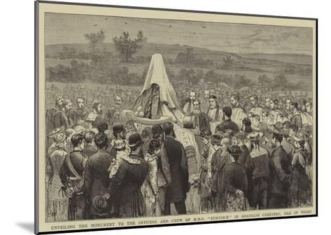 Unveiling the Monument to the Officers and Crew of HMS Eurydice in Shanklin Cemetery, Isle of Wight-Joseph Nash-Mounted Giclee Print