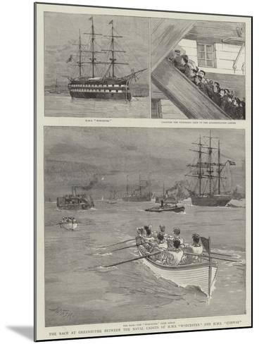The Race at Greenhithe Between the Naval Cadets of HMS Worcester and HMS Conway-Joseph Nash-Mounted Giclee Print