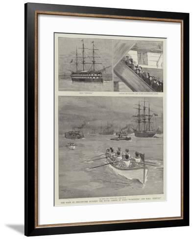 The Race at Greenhithe Between the Naval Cadets of HMS Worcester and HMS Conway-Joseph Nash-Framed Art Print