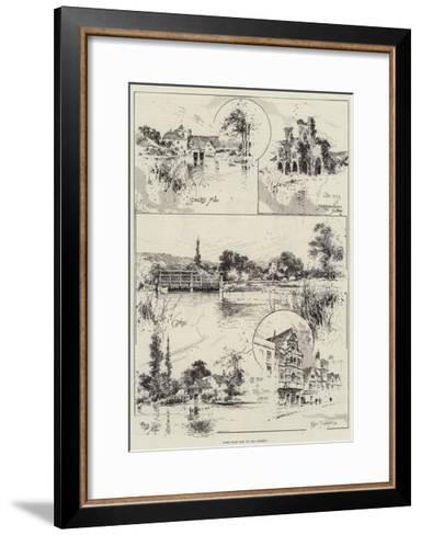 Some More Bits on the Thames-Joseph Holland Tringham-Framed Art Print