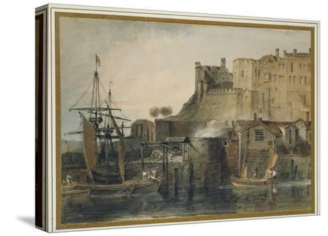 Chester Castle, C. 1805 (Watercolour over Graphite, with Pen and Ink and Scratching Out)-J^ M^ W^ Turner-Stretched Canvas Print
