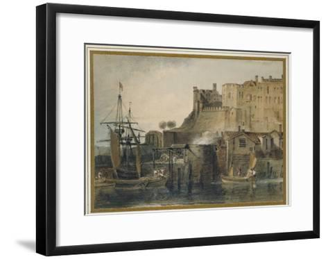 Chester Castle, C. 1805 (Watercolour over Graphite, with Pen and Ink and Scratching Out)-J^ M^ W^ Turner-Framed Art Print