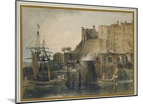 Chester Castle, C. 1805 (Watercolour over Graphite, with Pen and Ink and Scratching Out)-J^ M^ W^ Turner-Mounted Giclee Print