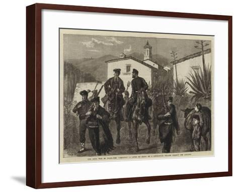 The Civil War in Spain, the Somaten, a Levee En Masse of a Catalonian Village Against the Carlists-Joseph Nash-Framed Art Print