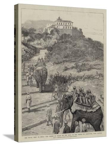 The Royal Visit to India, the Prince of Wales on the Road to the Temple of Parbuttee, Near Poonah-Joseph Nash-Stretched Canvas Print