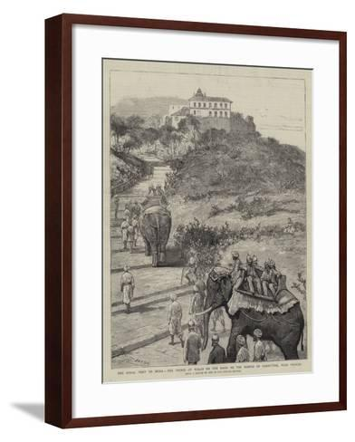 The Royal Visit to India, the Prince of Wales on the Road to the Temple of Parbuttee, Near Poonah-Joseph Nash-Framed Art Print