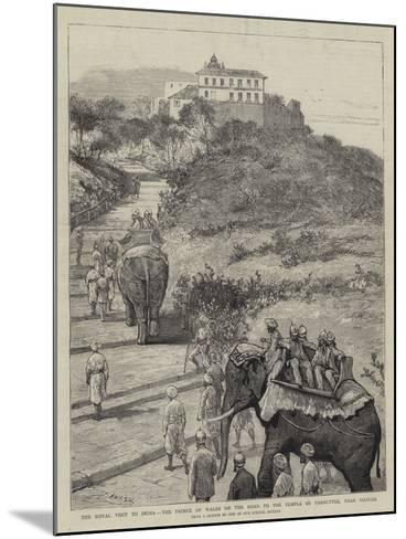 The Royal Visit to India, the Prince of Wales on the Road to the Temple of Parbuttee, Near Poonah-Joseph Nash-Mounted Giclee Print