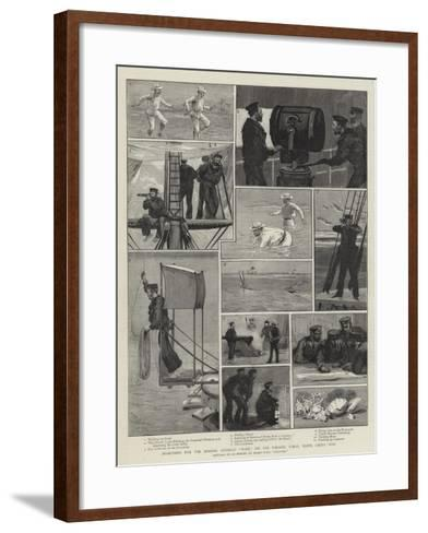 Searching for the Missing Gunboat Wasp, on the Parcel Coral Reefs, China Seas-Joseph Nash-Framed Art Print