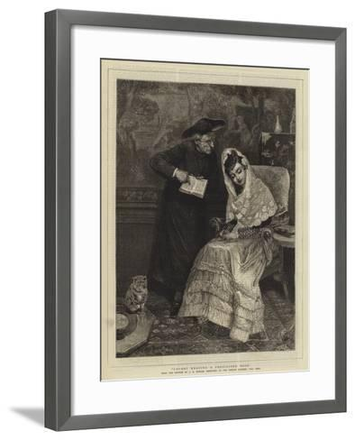 Caught Reading a Proscribed Book-John-bagnold Burgess-Framed Art Print