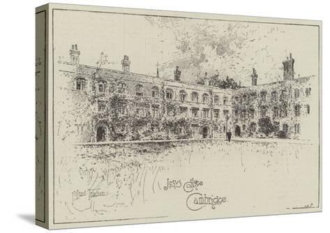 Jesus College, Cambridge-Joseph Holland Tringham-Stretched Canvas Print