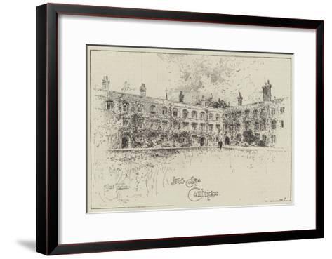 Jesus College, Cambridge-Joseph Holland Tringham-Framed Art Print