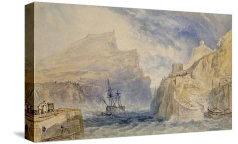 Boscastle, Cornwall, C.1824 (Watercolour over Graphite with Pen and Black Ink)-J^ M^ W^ Turner-Stretched Canvas Print