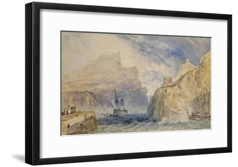 Boscastle, Cornwall, C.1824 (Watercolour over Graphite with Pen and Black Ink)-J^ M^ W^ Turner-Framed Art Print
