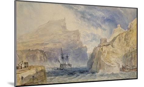 Boscastle, Cornwall, C.1824 (Watercolour over Graphite with Pen and Black Ink)-J^ M^ W^ Turner-Mounted Giclee Print