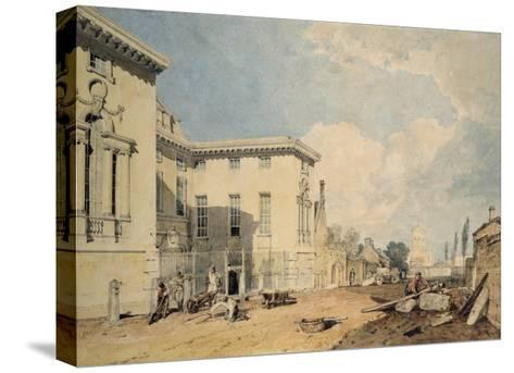 A View of Worcester College, 1803-04 (W/C over Graphite on Off-White Paper)-J^ M^ W^ Turner-Stretched Canvas Print