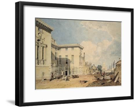 A View of Worcester College, 1803-04 (W/C over Graphite on Off-White Paper)-J^ M^ W^ Turner-Framed Art Print