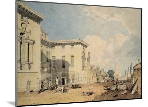 A View of Worcester College, 1803-04 (W/C over Graphite on Off-White Paper)-J^ M^ W^ Turner-Mounted Giclee Print