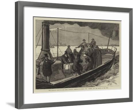 The Proposed Harbour for Rome, General Garibaldi on Board the Tevere Off the Mouth of the Tiber-Joseph Nash-Framed Art Print