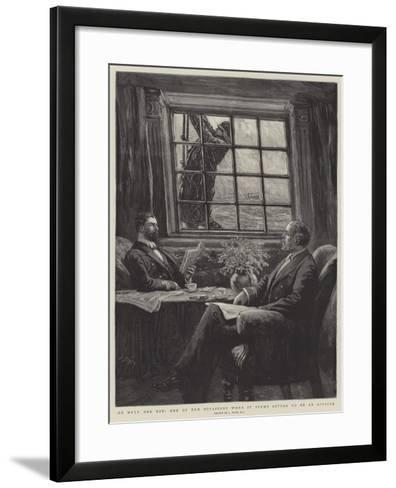 On Duty and Off, One of the Occasions When it Seems Better to Be an Officer-Joseph Nash-Framed Art Print