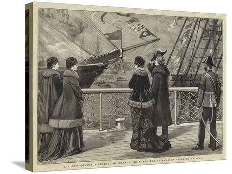 The New Governor-General of Canada, on Board the Sarmatian, Nearing Halifax-Joseph Nash-Stretched Canvas Print