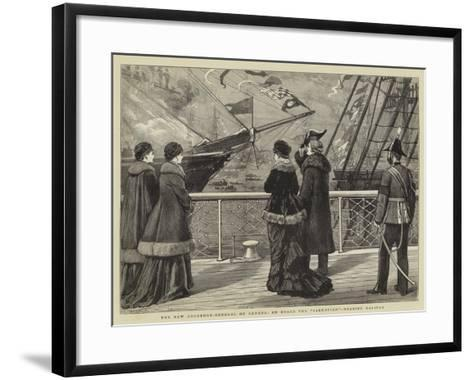The New Governor-General of Canada, on Board the Sarmatian, Nearing Halifax-Joseph Nash-Framed Art Print