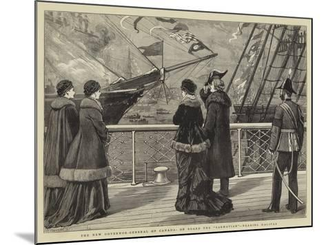 The New Governor-General of Canada, on Board the Sarmatian, Nearing Halifax-Joseph Nash-Mounted Giclee Print