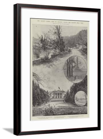 The Queen's Coming Visit to Ireland, Places Her Majesty Will Visit-Joseph Holland Tringham-Framed Art Print