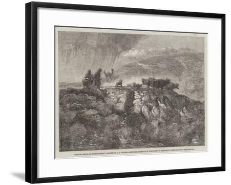 The Old Bridge at Dolwyddelan, from the Exhibition of the Society of Painters in Water-Colours-Joseph John Jenkins-Framed Art Print