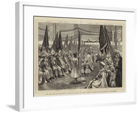 The Chapter of the Star of India at Calcutta, the Prince Investing the Maharajah of Jodhpore-Joseph Nash-Framed Art Print