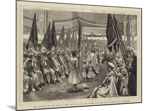 The Chapter of the Star of India at Calcutta, the Prince Investing the Maharajah of Jodhpore-Joseph Nash-Mounted Giclee Print