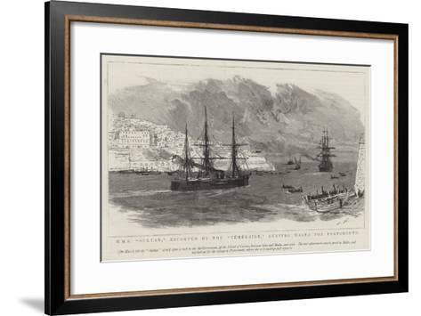 HMS Sultan, Escorted by the Temeraire, Leaving Malta for Portsmouth-Joseph Nash-Framed Art Print