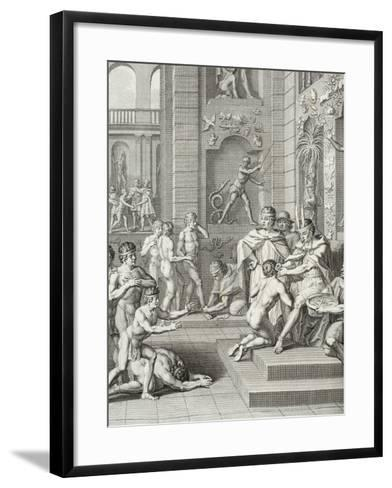 Inca Ceremonies Observed by the Knights of the Princes of the Blood-Jorge Juan y Santacilia-Framed Art Print