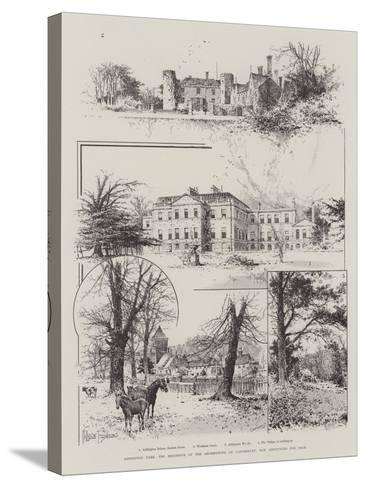 Addington Park, the Residence of the Archbishops of Canterbury, Now Announced for Sale-Joseph Holland Tringham-Stretched Canvas Print