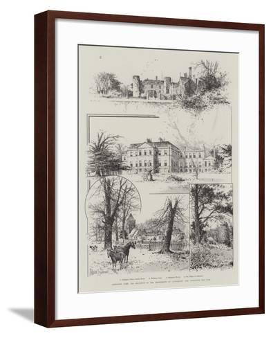 Addington Park, the Residence of the Archbishops of Canterbury, Now Announced for Sale-Joseph Holland Tringham-Framed Art Print