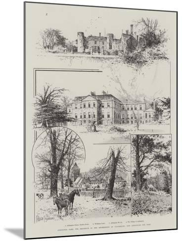 Addington Park, the Residence of the Archbishops of Canterbury, Now Announced for Sale-Joseph Holland Tringham-Mounted Giclee Print
