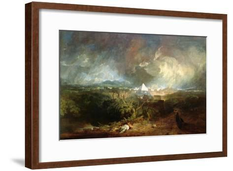 The Fifth Plague of Egypt-J^ M^ W^ Turner-Framed Art Print