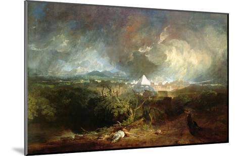 The Fifth Plague of Egypt-J^ M^ W^ Turner-Mounted Giclee Print