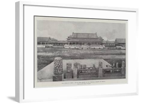 The Crisis in China, One of the Courts of the Imperial Palace at Peking-Joseph Holland Tringham-Framed Art Print