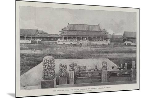 The Crisis in China, One of the Courts of the Imperial Palace at Peking-Joseph Holland Tringham-Mounted Giclee Print