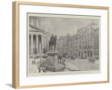 Head Offices, in Cornhill, of the British Branch of the Mutual Life Insurance Company of New York-Joseph Holland Tringham-Framed Art Print