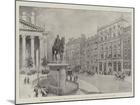 Head Offices, in Cornhill, of the British Branch of the Mutual Life Insurance Company of New York-Joseph Holland Tringham-Mounted Giclee Print