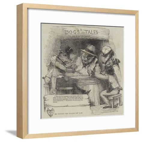 The Unlucky Dog Telling His Tale-Joseph Kenny Meadows-Framed Art Print