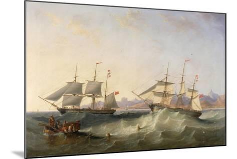 A Clipper and an East Indiaman Leaving Port-John Wilson Carmichael-Mounted Giclee Print