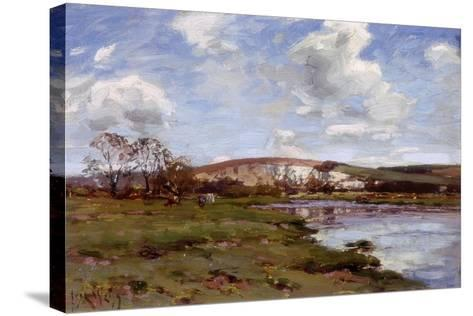 A Bright Day on the Arun-Jose Weiss-Stretched Canvas Print